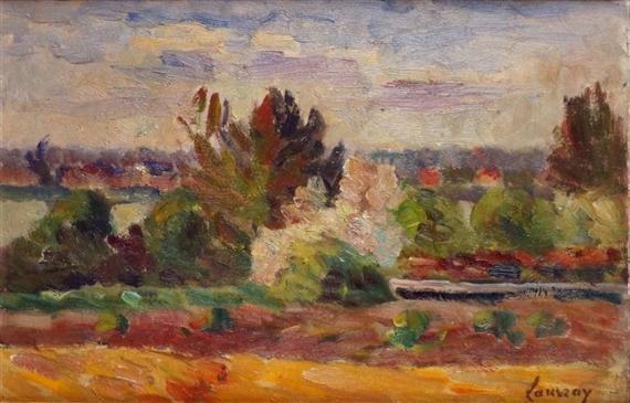 Abel louis alphonse lauvray french 1870 1950 mutualart for Le jardin d alphonse