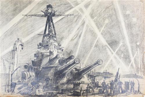 Bryan deGrineau | 3 works, English Channel Port (1940