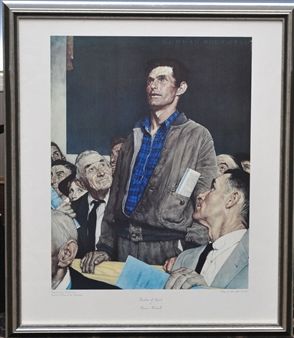 """norman rockwells freedom of speech This paper reflects on the success of the four freedoms paintings and analyzes reproductions of rockwell's original works since roosevelt's plication of the four freedoms while norman rockwell's series of idyllic paintings freedoms"""" - freedom of speech, freedom of worship, free- dom from want, and freedom from."""