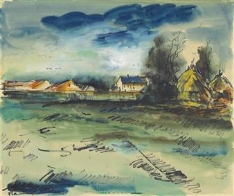 Maurice De Vlaminck Rue De Villages Avec Arbres