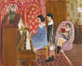 Henri Matisse La Le 199 On De Piano 1923 Oil On Canvas
