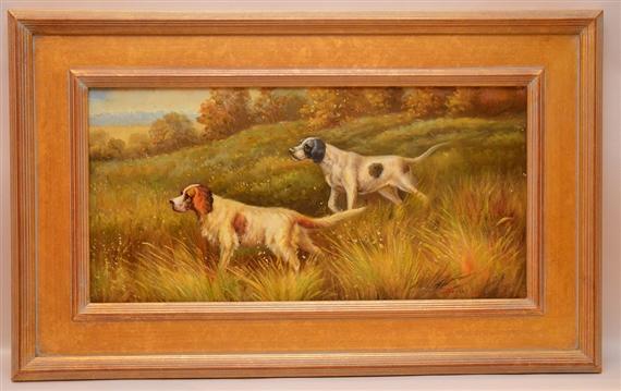 Fox Daniel | Framed Painting of Hunting Dogs | MutualArt