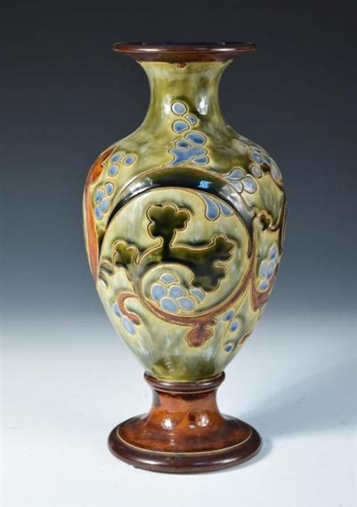 Mark V Marshall A Royal Doulton Stoneware Vase Mutualart