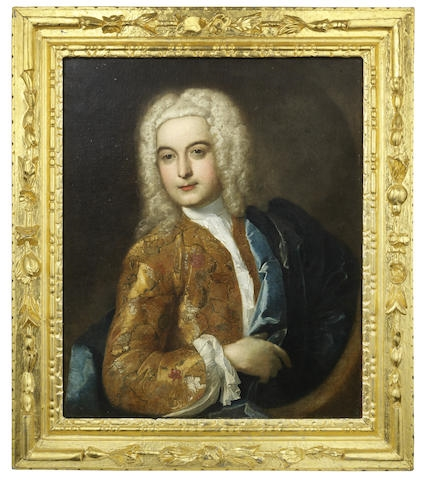 French School 18th Century Portrait Of A