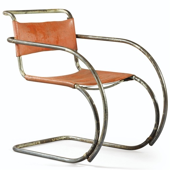 Artwork By Ludwig Mies Van Der Rohe, Chaise Mr 20, Made Of Steel And