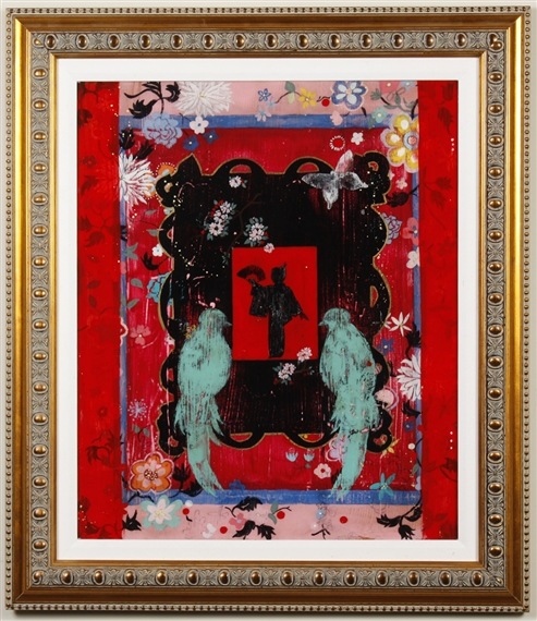 Artwork by Kathe Fraga, ROUGE MAGIQUE (FRENCH WALLPAPER SERIES), Made of acrylic