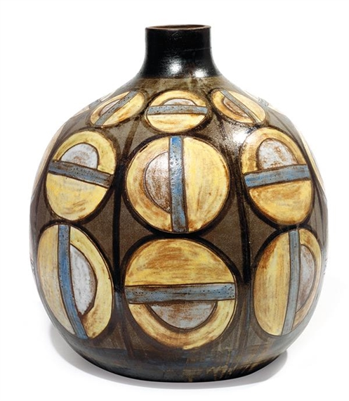 Kostanda Alexandre Earthenware Spherical Vase With Truncated