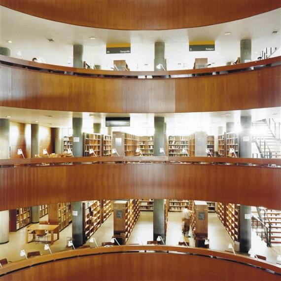 Hofer candida biblioteca uned madrid i 2000 mutualart for Biblioteca de la uned madrid