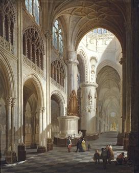 Neyt Bernard | Burgos Cathedral Interior (1848) | MutualArt  Neyt Bernard | ...