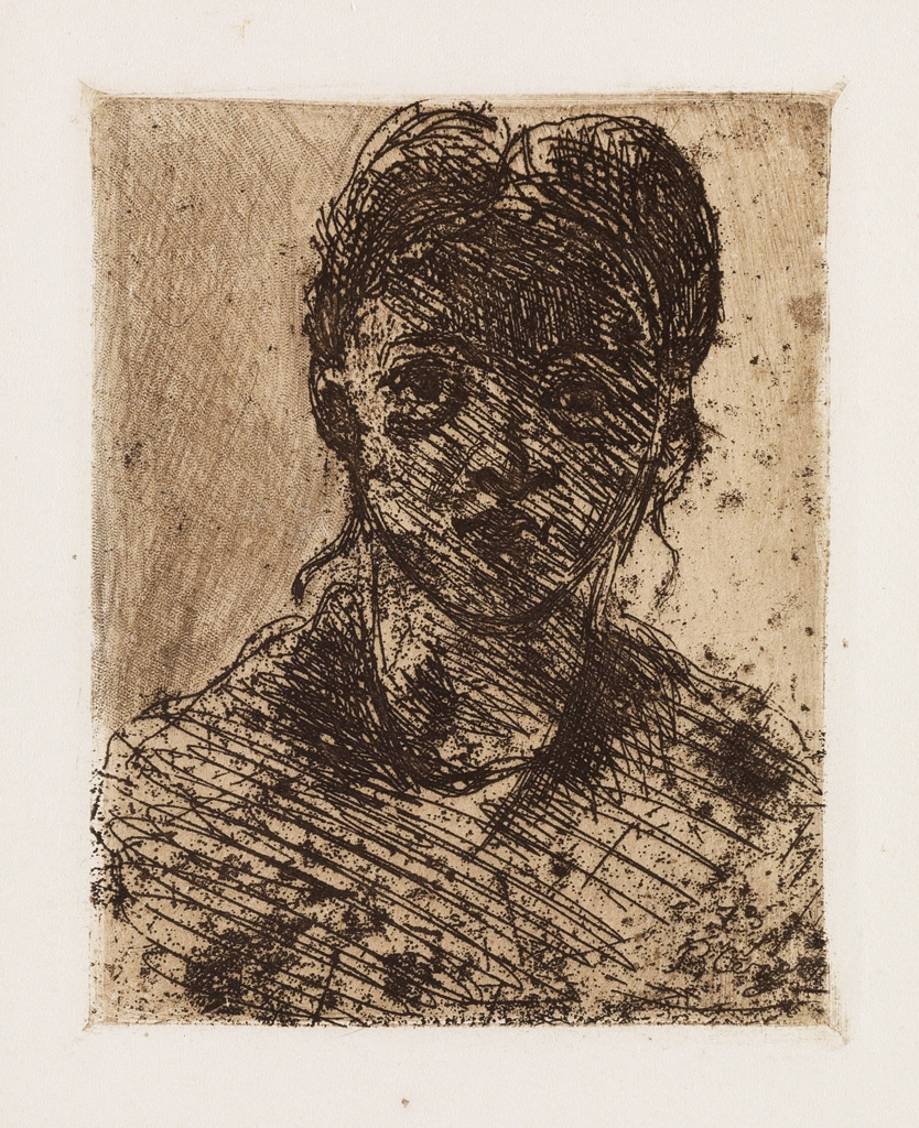 Paul Cézanne  Tête de Jeune Fille, 1873, Etching