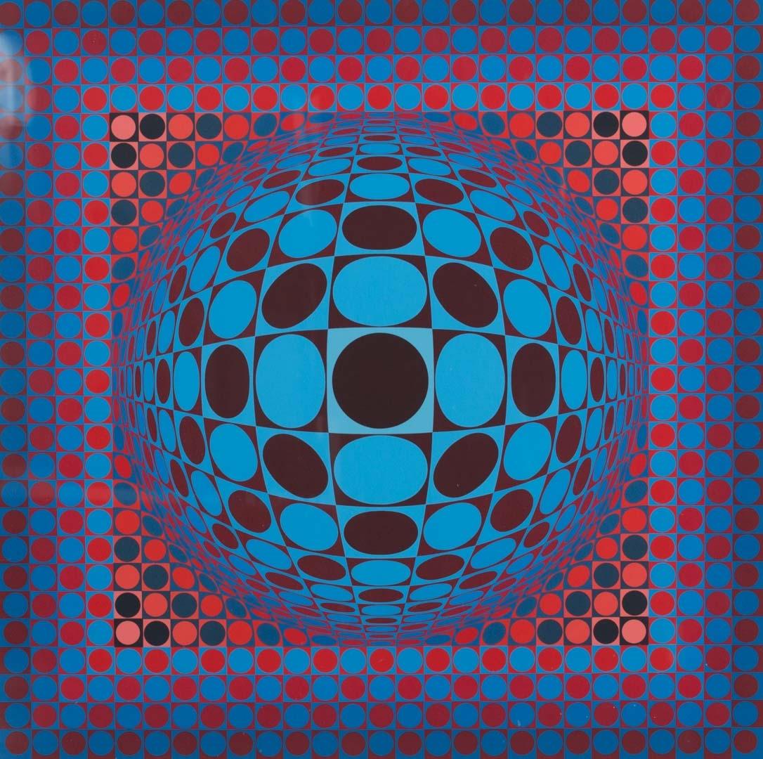 Victor Vasarely - Op-Art Sphere, serigraph