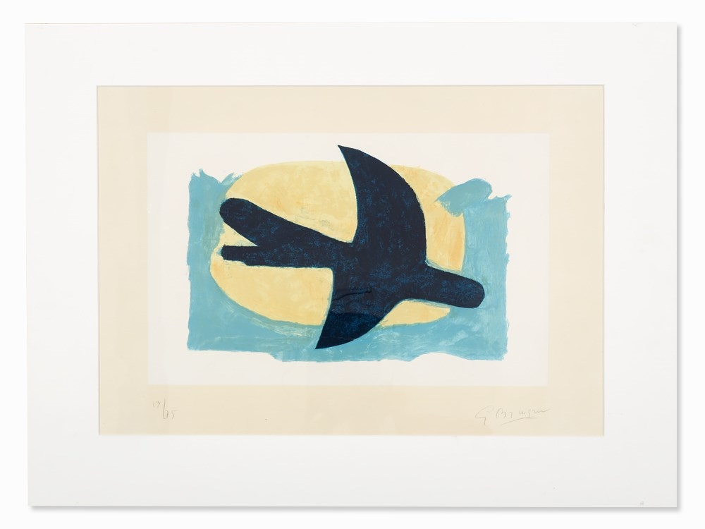 georges braque oiseau bleu et jaune 1960. Black Bedroom Furniture Sets. Home Design Ideas