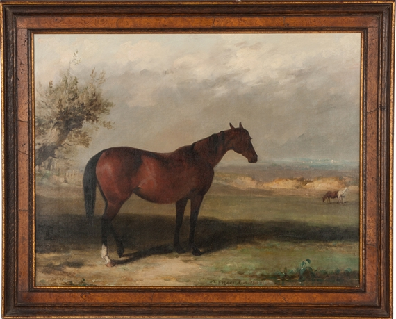 Abraham Cooper A Bay Hunter 1823 Oil On Canvas