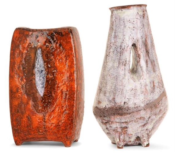 Derel Juliette Following Two Large Earthen Vases Grog Large