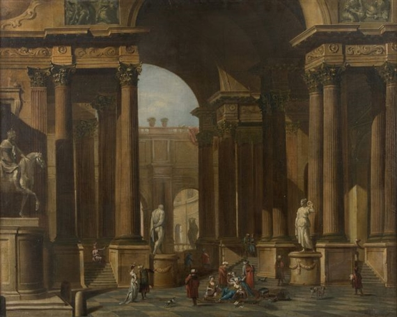 artwork by jacob balthasar peeters intrieur de palais anim de personnages orientaux made of