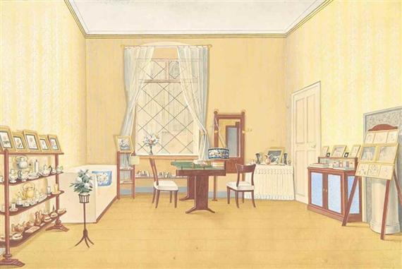 British School, 19thCentury | Intérieur d\'un salon de style George ...