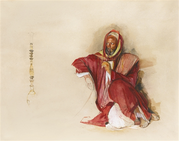 John Frederick Lewis, SEATED ARAB MERCHANT AT SUEZ