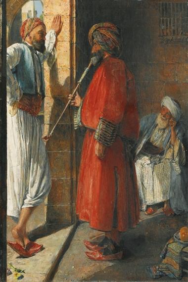 John Frederick Lewis, OUTDOOR GOSSIP, CAIRO