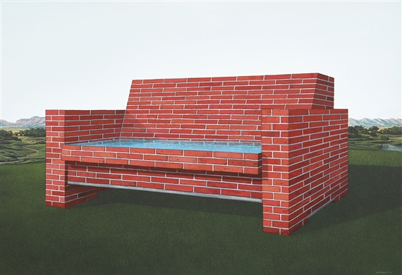 Artwork By Rudi Mantofani Sofa Bata Brick Made Of Acrylic On