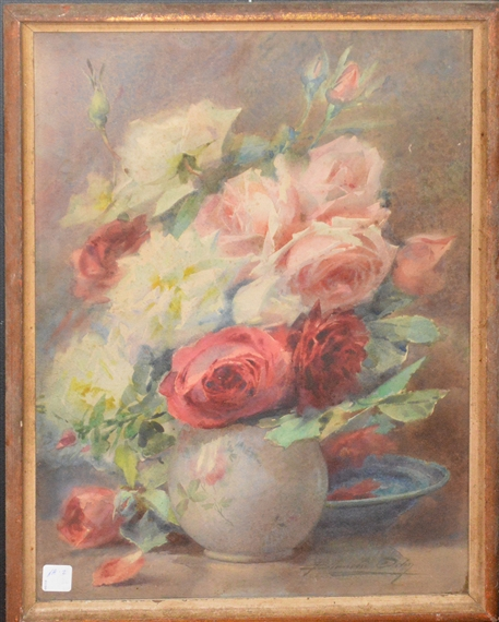 Odin blanche 13 artworks mutualart for Bouquet roses blanches