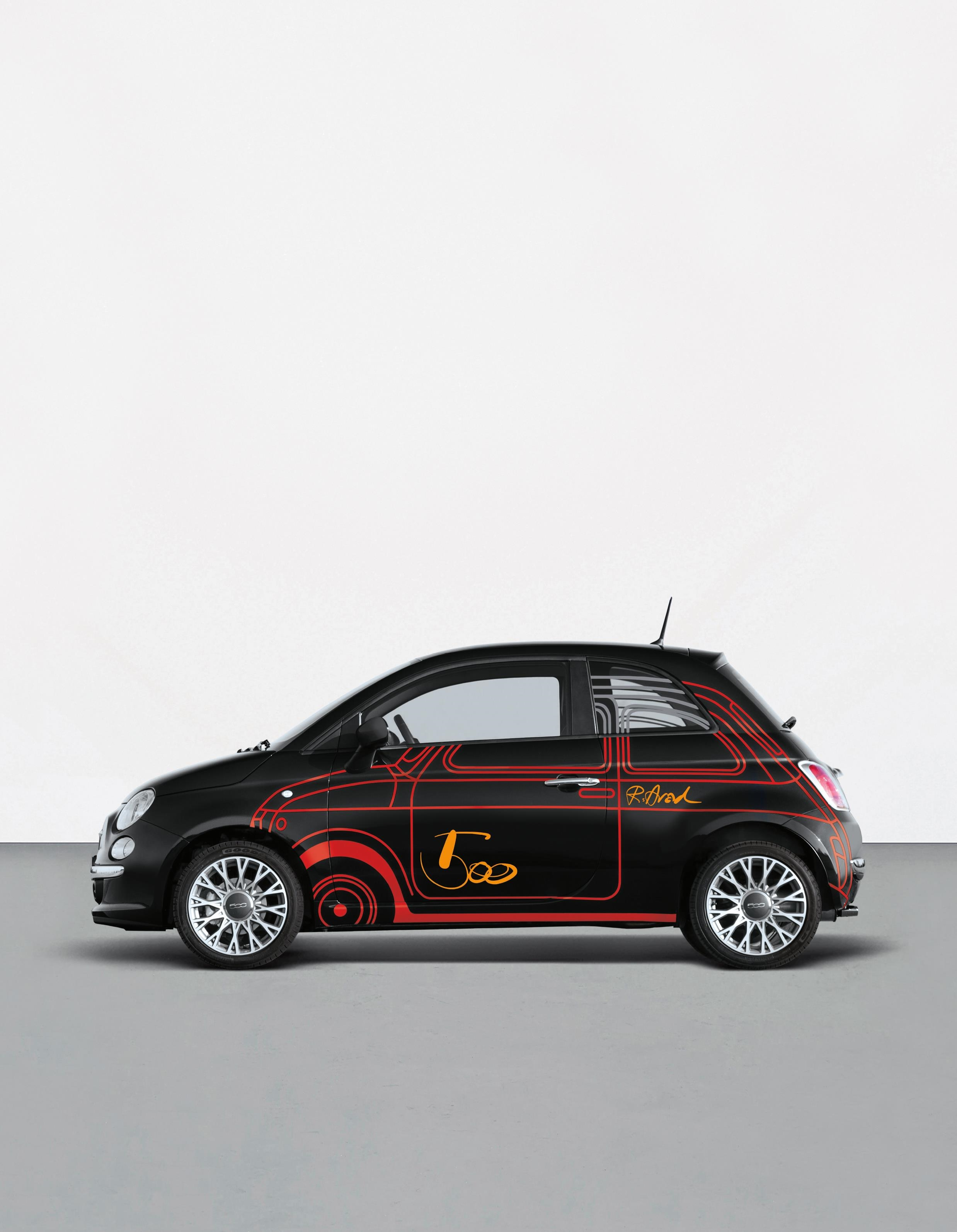 ron arad wrapped fiat 500 1 4 16v sport dualogic. Black Bedroom Furniture Sets. Home Design Ideas