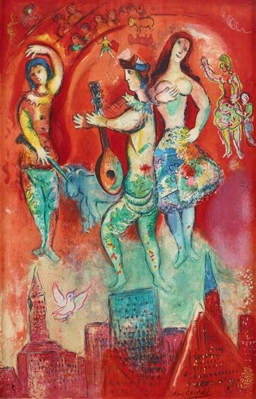 Marc chagall sur la terre des dieux ma belle for Marc chagall paris vu de ma fenetre