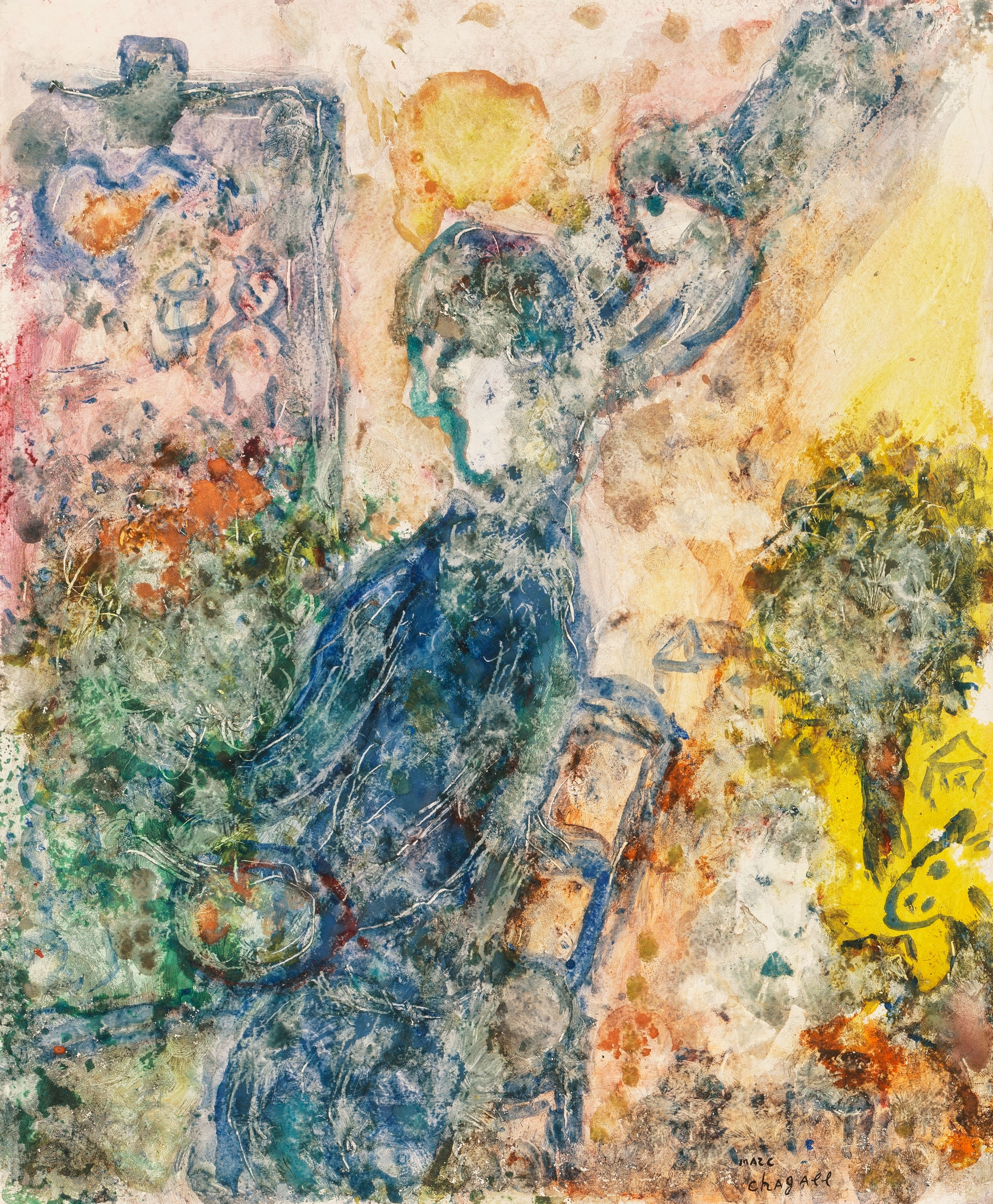 Marc chagall le peintre la palette 1983 for Chagall peintre