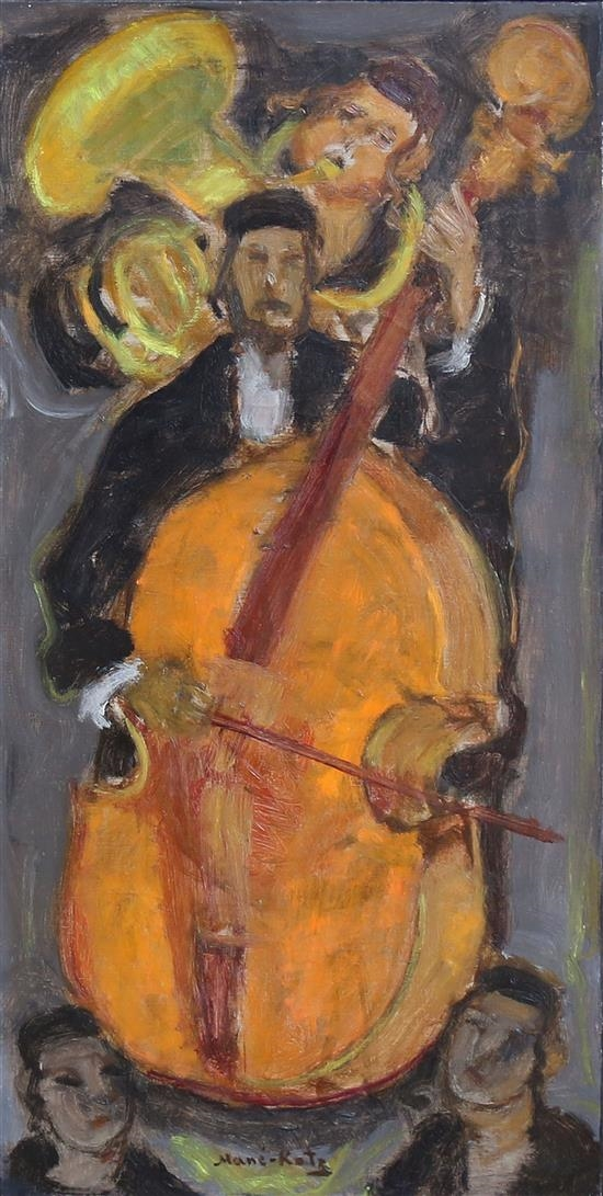 emmanuel mane katz musicians oil on canvas
