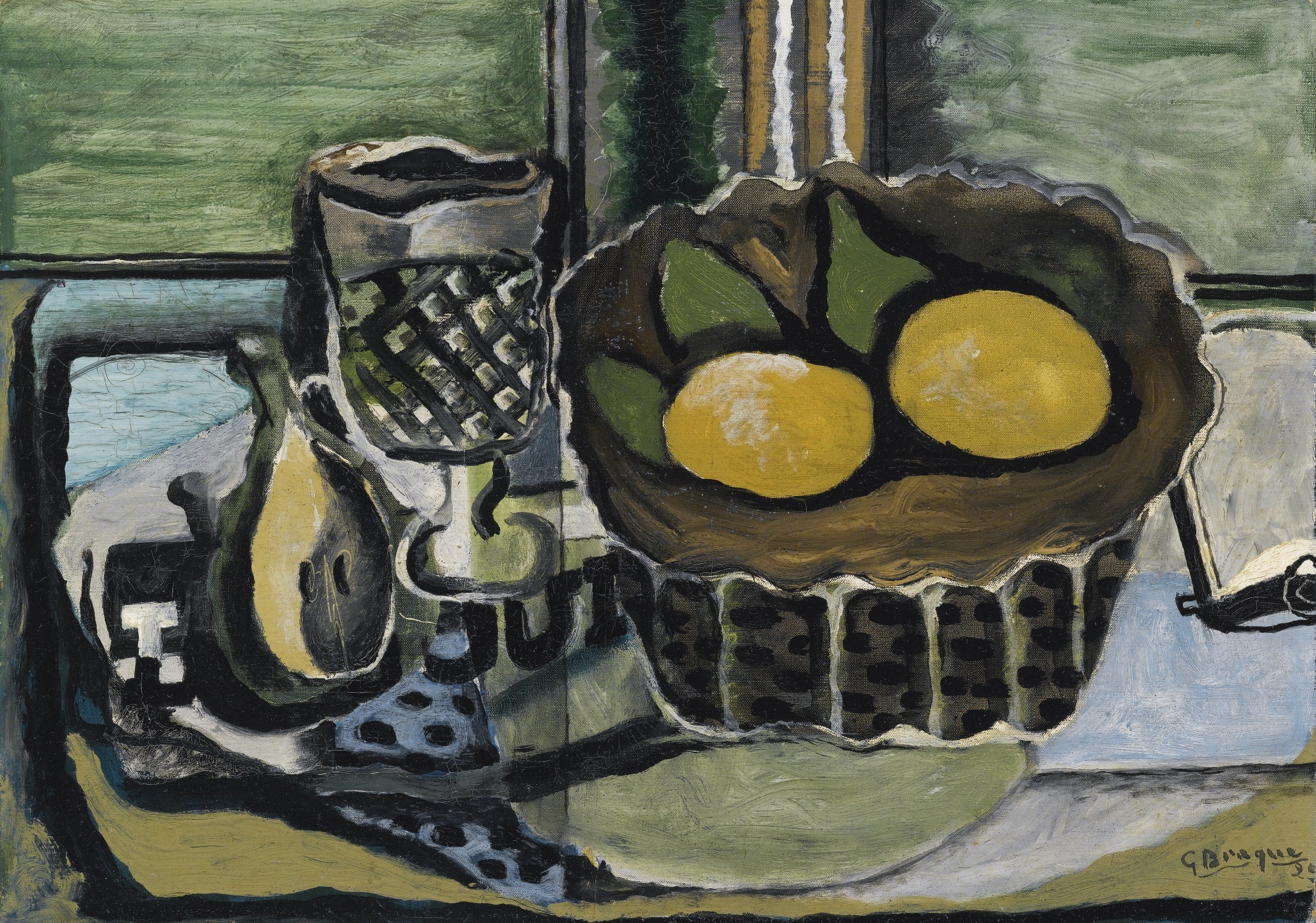 georges braque verre corbeille de fruits 1929. Black Bedroom Furniture Sets. Home Design Ideas
