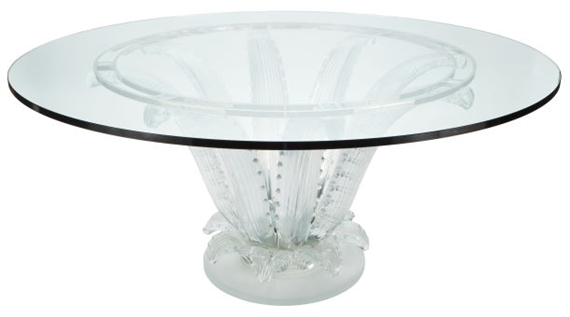 Artwork By Marc Lalique, Cactus Center Table, Lalique, Made Of Molded Glass,