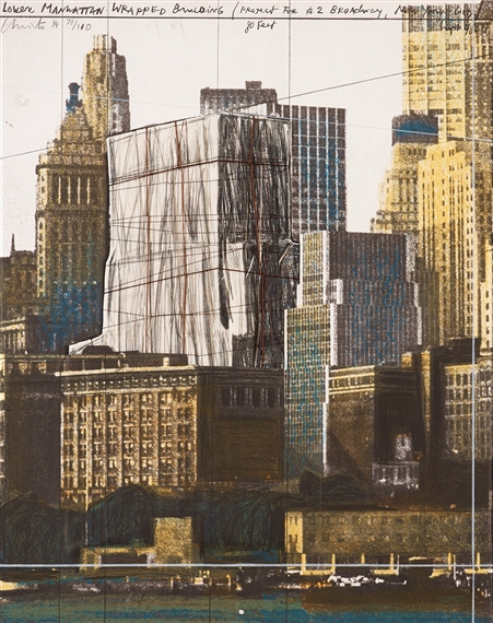 Lower Manhattan Wrapped Building Project  Broadway New York