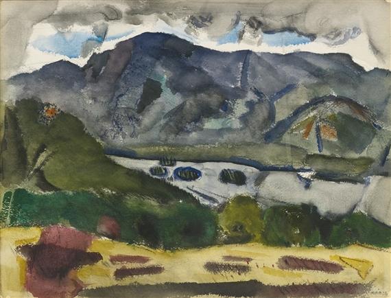 John Marin Mount Chocora 1926 Watercolor And
