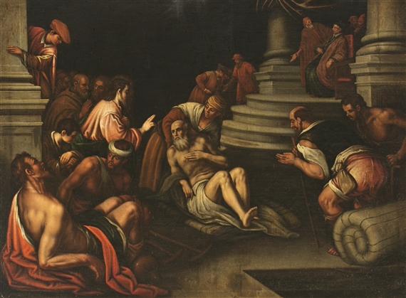Artwork By Pedro Orrente Jesus Healing The Paralytic At Bethesda Pool Made Of