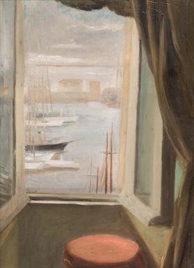 Leonid berman fen tre ouverte sur le vieux port for Fenetre ouverte