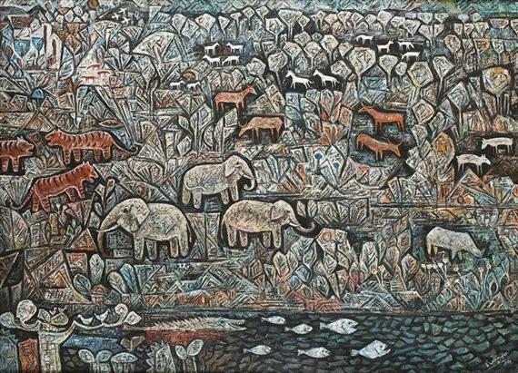 83 Gambar Lukisan Flora Dan Fauna Terlihat Keren