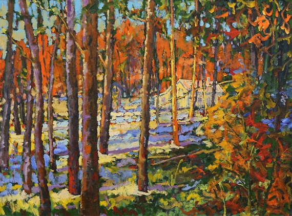 Patterson neil foothills ranchland autumn mutualart for Patterson woods