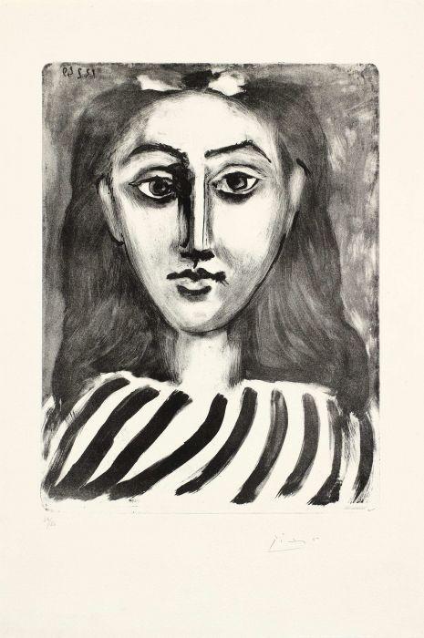 Pablo Picasso  Tête de jeune fille, 1949,