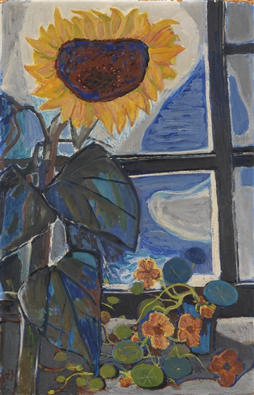 dix otto sonnenblume am atelierfenster 1949 mutualart. Black Bedroom Furniture Sets. Home Design Ideas