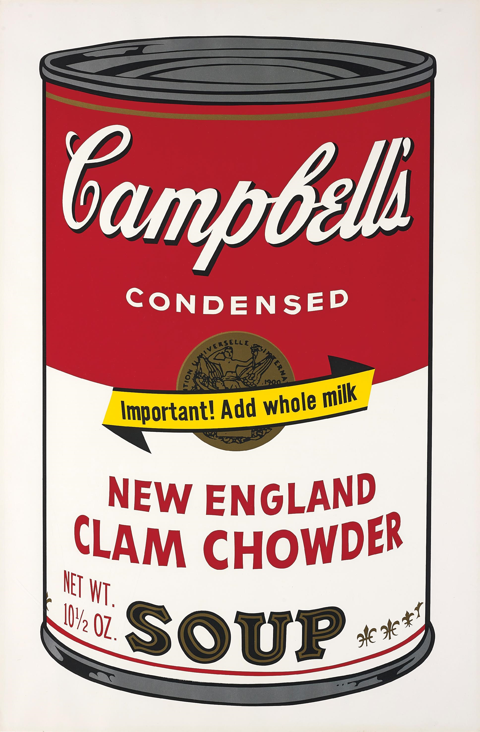 andy warhol new england clam chowder from. Black Bedroom Furniture Sets. Home Design Ideas