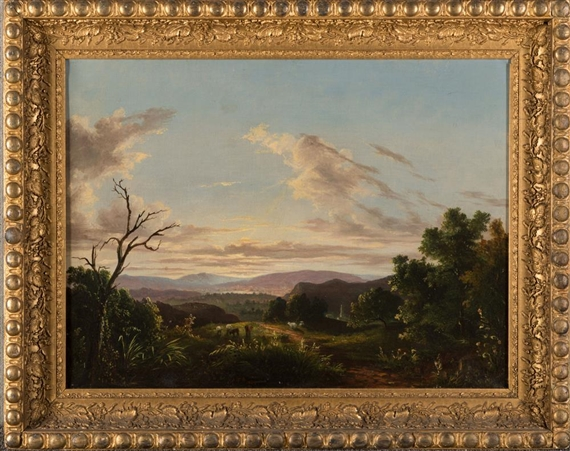 Artwork by Abigail Tyler Oakes, ACROSS THE VALLEY, Made of oil on canvas