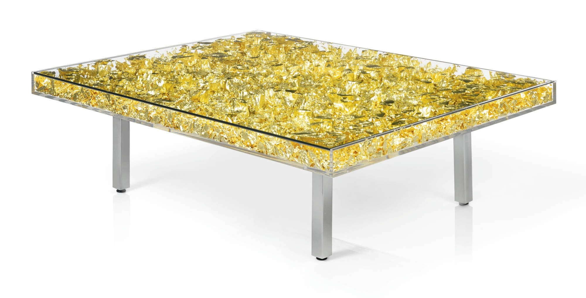 Yves klein table d 39 or 1963 22 karat gold leaf for Table yves klein