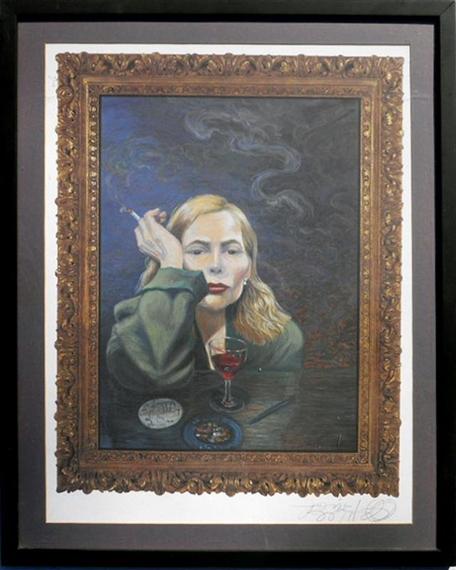 Joni Mitchell - Jane Fonda, print