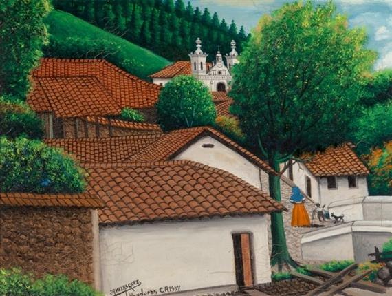 Jose Antonio Velasquez, View of San Antonio de Oriente ... |Jose Antonio Velasquez Paintings