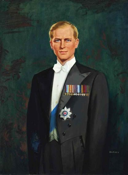 Barnes Archibald   Portrait of H.R.H. The Prince Philip ...
