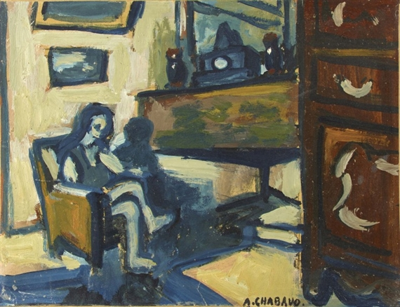 Auguste chabaud scene d 39 interieur circa 1920 for Scene d interieur blois