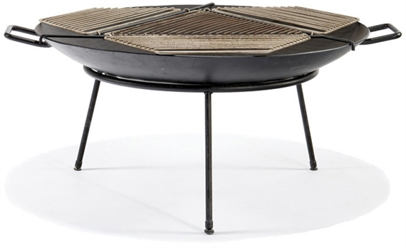 Hawk Stan Fire Pit With Grill Cover Circa 1950 Mutualart