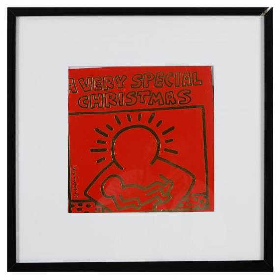 artwork by keith haring a very special christmas made of album cover