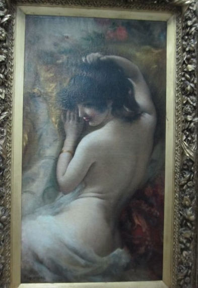 Femme Nue De Dos eugene vincent vidal | femme nue de dos | mutualart