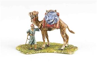franz bergmann beladenes kamel mit araber. Black Bedroom Furniture Sets. Home Design Ideas