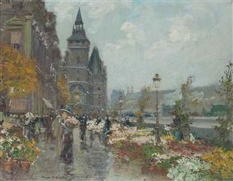 Georges Stein Flower Market Quai De L Horlage